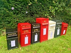 Royal Mail Replica ER White, Red, Black & Green Post Office British Post Box