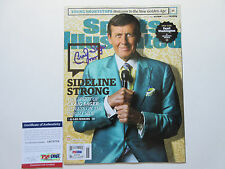 CRAIG SAGER SIGNED SPORTS ILLUSTRATED MAGAZINE PSA/DNA COA AB78758 STRONG TNT