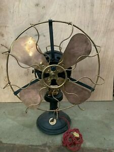 Antique Marelli Electric Table Fan Made In Italy