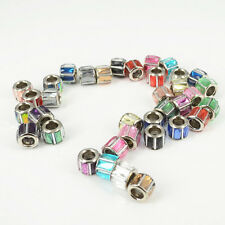 Mixed 10PCS Crystal Glass Charms Spacer Loose Beads Fit Women DIY Euro Bracelets