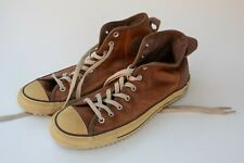 Men's Brown Leather Converse All Star Chuck Taylor High Tops (S4R) 11.5 Shoes
