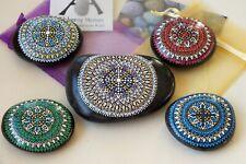 Alchemy Stones: Set of 5 Handpainted Mandala Stones — Ascension Large Master Set