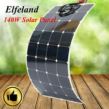 140W 12V Elfeland Sunpower Flexible Solar Panel Battery Charger For RV Boat Car