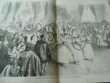 Grande Gravure 1863 - Bal costumé donné par sa majesté Le Ballet des Abeilles