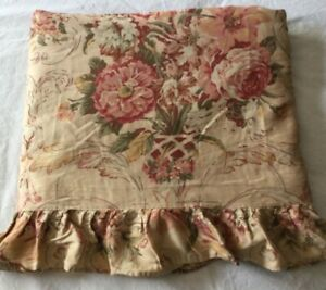 Ralph Lauren GUINEVERE Queen Flat Sheet MEDIEVAL French Country Floral Print