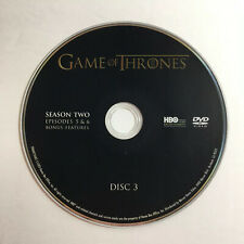 Game of Thrones (DVD) Second Season 2 Disc 3 Replacement Episodes 5 & 6
