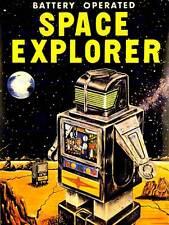 Pubblicità giocattolo a batteria SPACE EXPLORER ROBOT art print poster cc172