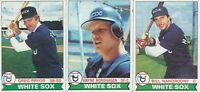 Chicago White Sox Lot of 3 different 1979 Topps baseball cards