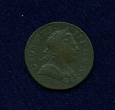 GREAT BRITAIN/ENGLAND  GEORGE III 1771 HALF-PENNY COIN, XF++, ORIGINAL AND NICE!