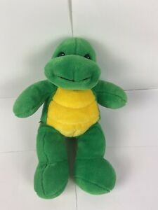 """Vtg Retired 14"""" Build A Bear Green Turtle/Yellow Belly/ W/O Shell EUC"""