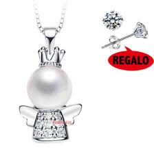 Collana da Donna Ciondolo Angela e perla strass A204