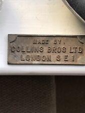 Rare Small Collins Bros Metal Sign / Plaque Fairground / Funfair