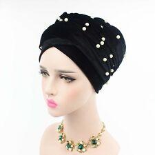 Women Beaded Gold Mesh Turban Extra Long Wraps Head Scarf Hijab Long Tail Cap