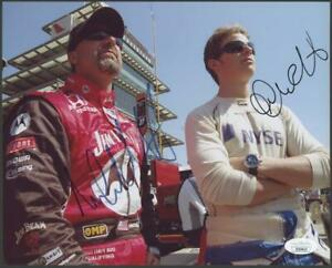 MICHAEL & MARCO ANDRETTI dual-signed 8x10 photo   Autographs - JSA certified