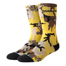 STANCE Wu-Tang Clan Killa Beez Crew Socks sz L Large (9-12) Yellow Brown Black
