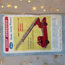 g1k ephemera vintage advert dinky toys supertoys turntable fire escape grubby