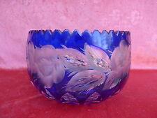 noble,lourde Bol (Bol)__cristal au plomb taillé__23cm__plus de,8kg__bleu__