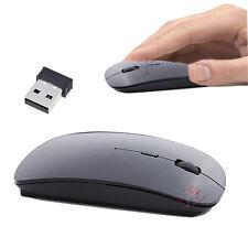MOUSE WIRELESS USB OTTICO NOTEBOOK 1600dpi SENZA FILI NERO ULTRA PIATTO SOTTILE