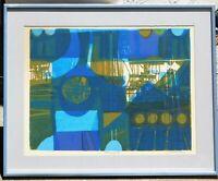 David Weidman b.1921, vintage silkscreen pencil signed, 12 x 16