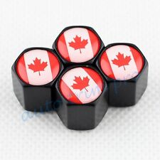 Car Air Wheel Rim Tire Tyre Valve Stems Cap Cover For CA Canada Flag Badge Trim