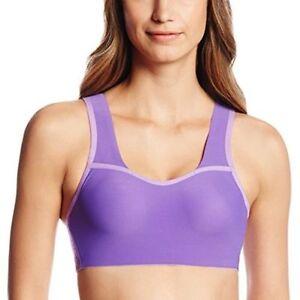 New Balance Women's Delightfully Sculpted Padded Sports Bra Purple Extra Small