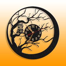 """Wall Clock Owl Wooden Clock 12""""(30cm), Modern, Birds #16"""