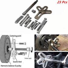 23Pcs Portable Car Harmonic Balancer Puller Steering Wheel Gear Crankshaft Tool