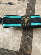 """Golds Gym 4"""" Nylon Weight Lifting Belt Size Small  Green"""