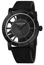 Stuhrling Original 881B 01 Winchester Swiss Quartz Black Leather Mens Watch