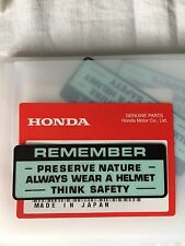 Genuine Honda Warning Preserve Nature Decal Z50 ST70 Monkey Bike Dax Z50m