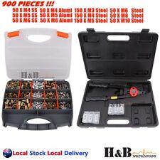 900pcs Nutsert Tool Kit Rivnut Stainless Steel Rivet Nut Gun Mandrels T0319