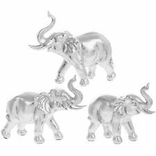 LEONARDO SET OF 3 SILVER ART ELEPHANT FAMILY ORNAMENT
