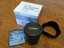 Canon EF-S 10-22mm f/3.5-4.5 USM Ultra Wide Zoom Lens w/ Hood & Protector