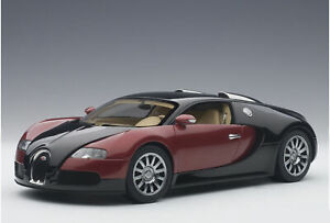 1:18 Bugatti EB 16.4 Veyron Production Car 001 by AUTOart in Red and Black 70909