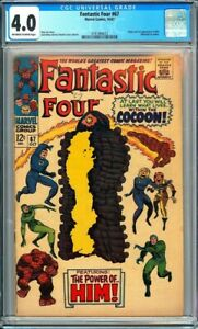 Fantastic Four #67 CGC 4.0 Origin & 1st app. of Him ( Warlock) in cameo!L@@K!