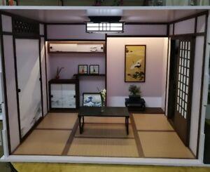 Doll house Room Box Japanese Room with funi~ 1:6 Pullip Blythe Momoko Barbie BJD