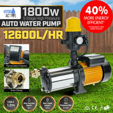 Multi Stage High Pressure Auto Water Pump Garden House Pool Rain Tank Irrigation