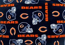 "1-NFL CHICAGO BEARS PRINTED FLEECE BODY PILLOW CASE/ BLACK FLEECE BACK 52""x20"""