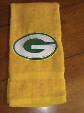 Embroidered Terry Hand Towel - Green Bay Packers - Yellow Towel