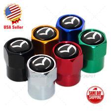 Hex Mazda Logo Emblem Car SUV Wheels Tire Air Valve Caps Stem Dust Cover Sport