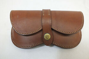 Galco Brown Leather Sunglass Case BL804CN Stitched with Snaps USA