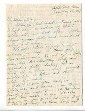 Vintage Personal Letter Mrs General EN HARMON to Mrs General CE HURDIS 1947