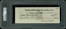 Orville Wright Authentic Signed 3x8.5 Check Dated October 16, 1939 PSA Slabbed