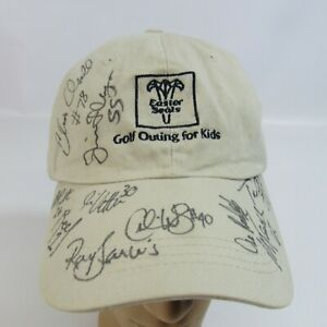 Easter Seals Golf Outing Hat Green Bay Packers Autographs Kalahari Strapback Cap
