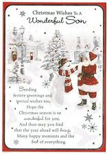 Son Christmas Card 'To A Wonderful Son'