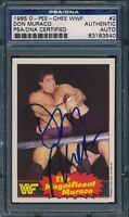 1985 OPC O PEE CHEE WWF SIGNED DON MURACO CARD #2 AUTO PSA/DNA