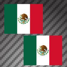 "2x Mexican Flag 4"" Sticker vinyl Die Cut Decals graphic Mexico MX"