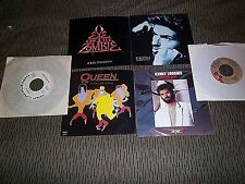 Vintage Lot; 45 rpm Records-QUEEN-JOHN FOGERTY-KENNY LOGGINS-GEORGE MICHAEL-more