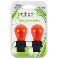 2 x 3156A 182 12V P27W Amber Indicator Wedge Base Car Light Bulbs W2.5x16D