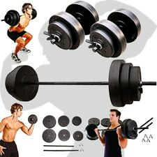 WEIGHT SETS 140LBS Barbell Dumbells Home Gym Fitness Equipment Build Muscle New